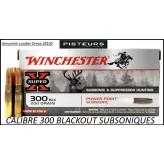 Cartouches winchester power point calibre 300 Blackout subsonic  poids  200 grains- 13 gr-Ref 300blackoutsub