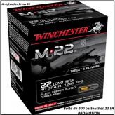 Cartouches Winchester Calibre 22 Lr M22-Plomb Round nose 40g- boite de 400- Promotion-Ref 29584