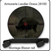Montage-BLASER-R93-R8-Rail-pour lunette-Swarovski-Z6 rail creux-Ref 20051