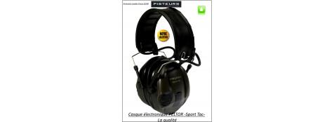 Casque PELTOR SPORT TAC électronique-Promotion-Ref 12830