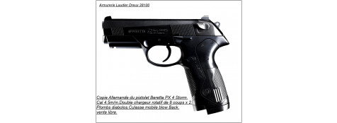 Pistolet BERETTA PX 4 STORM. Cal 4.5mm. CO2 . 8 coups.Ref 12873