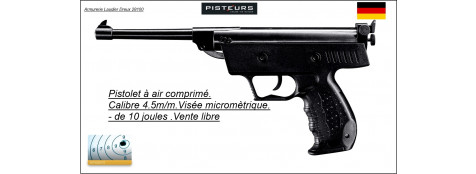 Pistolet Umarex S3 Air comprimé Calibre 4,5 mm-Ref 12878