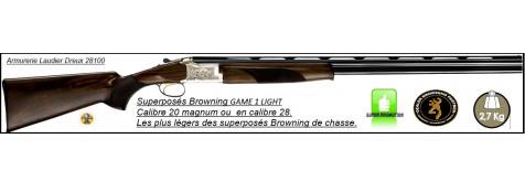 Superposé Browning B525 Game 1 Light  Calibre 20 Magnum Canons 71cm-Ref 32835