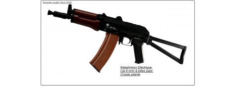 """KALASHNIKOV AKS74U électrique, cal 6mm Cybergun.""""PROMOTION"""".Ref 13345"""