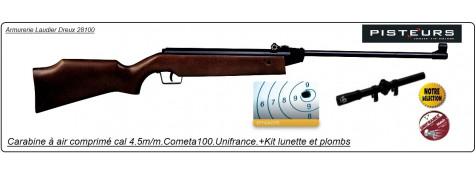 Carabine Cometa air comprimé C-100  - de 20 joules,en kit, Cal 4.5mm, + lunette 4x20.Ref 13721