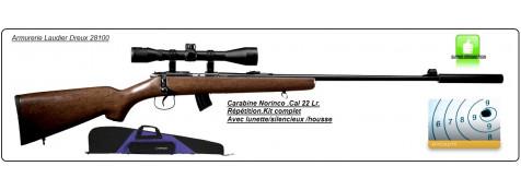 """Carabine-Norinco-Jw15-Cal 22LR-Répétition manuelle- kit avec lunette + silencieux-Crosse bois-""""Promotion"""".Ref 13744"""
