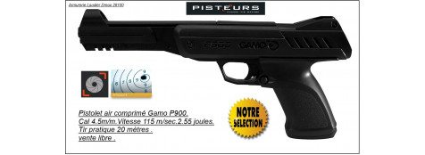 Pistolet Gamo P900 Calibre 4,5mm -Air comprimé -Ref 14142