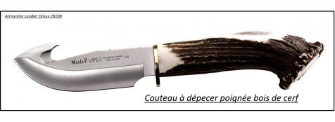 Couteau-dépecer -Viper-Muella-manche-cerf-Ref 15065