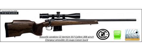 Carabine-CZ-557-Varmint-Calibre-308 winch-Répétition-Canon-lourd-chargeur-amovible-10 coups-Rail-picatini-TIRS-LONGUES-DISTANCES-Promotion-Ref 777675