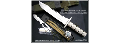 Couteau-de-survie-Jungle King I-lame-Inox-Aïtor-Ref 16015
