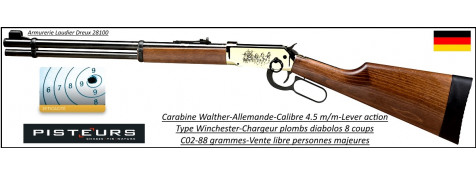"Carabine Walther Lever action Calibre  4,5 mm CO2-88-grammes-Chargeur-8 coups-""Promotion"".Ref 16093"