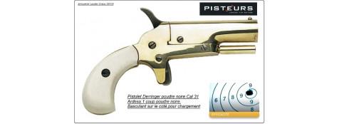 Pistolet- Derringer- Cal 31- Percussion-Poudre noire -Ref 16130