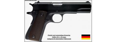 Pistolet-Browning-1911-Calibre 22 Lr-Semi automatique-Catégorie B1-Promotion-Ref 16164