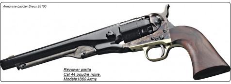 Révolver- Pietta- modèle 1860 ARMY-  Bronzé- jaspé-Cal 44- poudre noire-Ref 16635