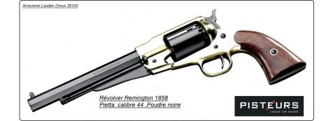 Révolver-PIETTA-Remington- laiton -1858-Cal 44- poudre noire-Ref 16636