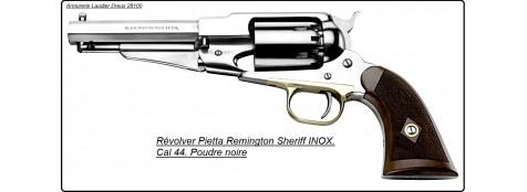 """Révolver -PIETTA- poudre noire-1858- Remington- SHERIFF'S-INOX -Cal 44-""""Promotion""""-Ref 16637"""