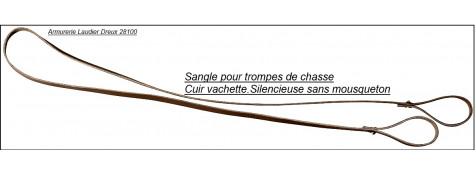 """Lanière-cuir-pour-trompe-de chasse -""""Modèle silence""""-Ref 16935-21403"""