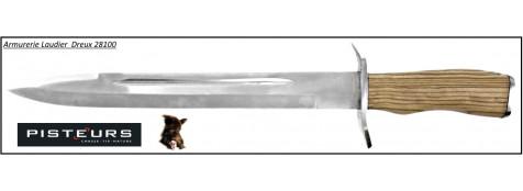 Dague chasse manche bois lame 28.5 cm -Promotion-Ref 17828