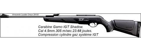"Carabine-GAMO-Air comprimé- Shadow IGT-Cal 4.5mm -19.90 joules .""Promotion"".Ref 18121"