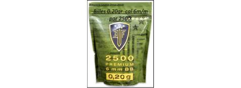 Billes 6 m/m soft air Elite Force premium 0,20g par 2500-Promotion-Ref 18601