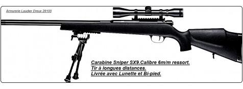 "Carabine Umarex-TOKYO SOLDIER -SX9-Sniper -Cal 6m/m-Bi pied-Lunette-""Promotion ""-Ref 18618"