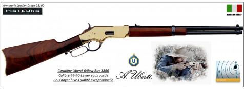 Carabine-Uberti-Yellow Boy-1866-carbine-rifle-type-Winchester-boitier laiton-Canon rond -Calibre 44-40 -Ref 29949