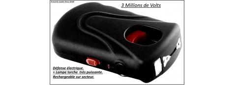 """Appareil-défense-électrique-3 millions volts + lampe torche très puissante-RECHARGEABLE sur secteur -SP3000-""""Promotion""""-Ref 21172"""