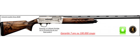 "Semi Automatique-BROWNING A5-Ultimate Partridges-Inertie-Noyer grade 4 -Calibre 12 Mag 76m/m-Canon 71 cm ou 76 cm-""Promotions""Ref 19043-19044"