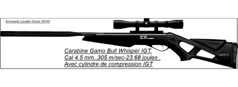 "Carabine-GAMO-Air comprimé-Bull Whisper IGT-Cal 4.5mm -23.68 joules -""Promotion""-Ref 20030"