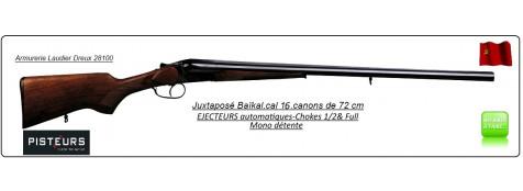 Juxtaposé Baïkal- Ij 43E-Cal 16/70-EJECTEURS-Mono détente- Canons 72cm -Ref 11904