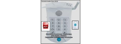 """Kit d'alerte à la personne téléphonique.-Avec bouton """"Panique""""-Pour avertir vos proches.""""Promotion""""-Ref 20133"""