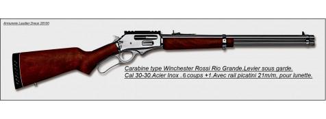 Carabine Rossi Rio Grande. Acier inoxydable --Calibre 30-30.Ref 20186