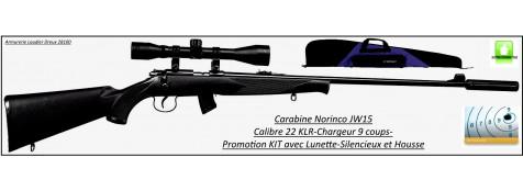 """Carabine-Norinco-Jw15-Cal 22LR-Répétition manuelle-Crosse synthétique- kit avec lunette + silencieux-""""Promotion"""".Ref20483"""