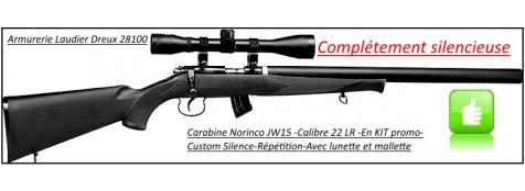 """Carabine-Norinco-Jw15-Customisée-Mk3-Cal 22 LR-Crosse synthétique-Complètement silencieuse -Avec lunette 4 x 32+ mallette-""""Promotion""""-Ref 20484"""