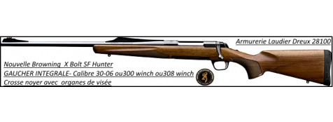 Browning-®-X-BOLT-SF-Hunter-GAUCHER-Intégrale-Calibre-30-06-Avec organes-visée-Noyer-Promotion-Ref 20912