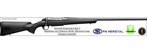 """Carabine-Browning-A BOLT 3-Répétition-Composite-Cal 300 winch ou 30-06 ou 270 winch-sans instrument de visée-Promotion"""""""