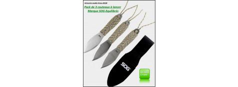 Couteaux-lancer -par 3-SOG-Fling Pack-Ref 21068