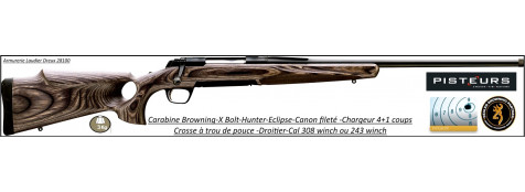 Browning-X-BOLT-Cal 308 winch-Hunter-Eclipse-SF-Threaded-Canon fileté -Promotion-Ref 21333-27558