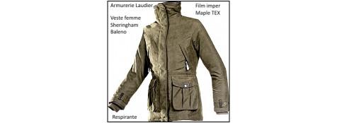 Vestes-Baleno-Sheringham-Femme-Taille-S ou M ou L ouX L- Film Maple Tex imper et respirant-promotion