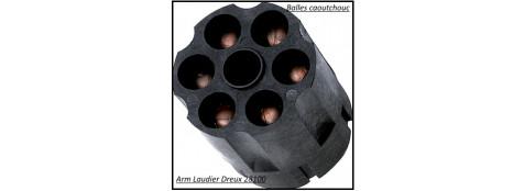 Barillet de rechange pour révolver -SAFEGOM-  Balles caoutchouc 6 coups-Ref 21681
