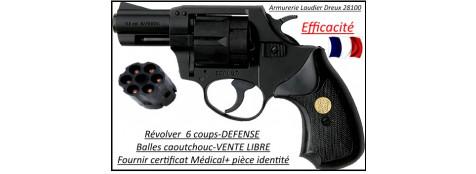 Révolver-défense-SAFEGOM-balles-caoutchouc-6 coups-Cal 11.60m/m-Promotion-Ref 21682