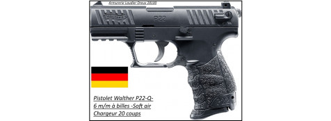 Pistolet WALTHER P22-Q- Cal 6mm à ressort-Ref 21946