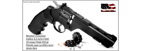 "Révolver-Crossman-USA-Type-Smith & Wesson- Mod Vigilante- cal 4.5mm - 10 coups- canon 6""-""Promotion""-Ref 22929"