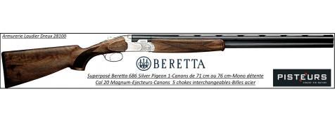 Superposé Beretta 686 Silver Pigeon 1 Calibre 20 mag Canons 71 cm chasse -Promotion-Ref 23112-37587