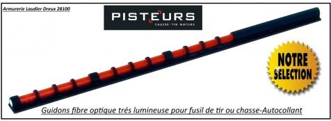 Guidons-Fusil-Easy-Hit-Parcours-chasse-fibre-optique-Lumineux-autocollant-Ref 23812