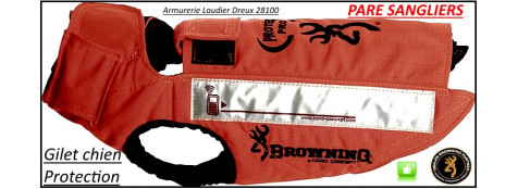 Gilets Browning PROTECT PRO chiens 8 COUCHES protection Pare sangliers-7 tailles de 55cm à 85 cm