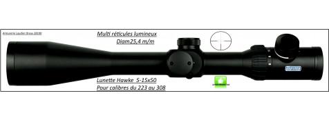 Lunette -Hawke Optics- Endurance -SF-5-15x50-Multi réticules lumineux-Pour cal 223 à 308 w -Ref 28339