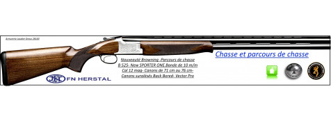 Superposé-Browning-B 525-New Sporter-One-Parcours de chasse-Cal 12 mag-Canons-71 cm-Promotion-Ref 17622-23848