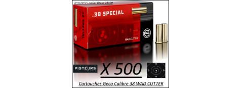 Cartouches 38 Wad Cutter Geco Par 500-poids 158 grs-Promotion-Ref 240-bis