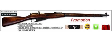 Fusil MOSIN NAGANT Calibre 7,62 x 54 R modèle 1891/30-Russe D'époque- répétition 5 coups -Trés bel état général- -Promotion-Ref 24309